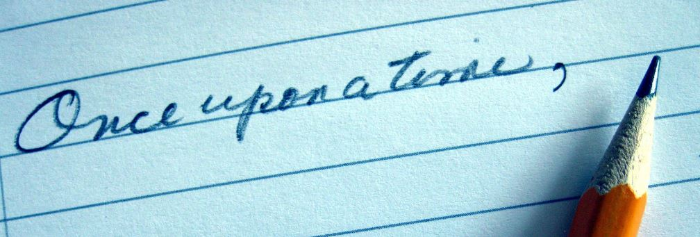 Handwritten once upon a time in pencil